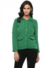 Green quilted jacket
