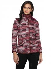 Marsala quilted jacket