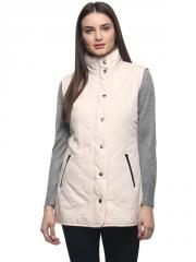 Peach quilted jacket