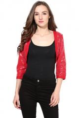 Red crop Shrug
