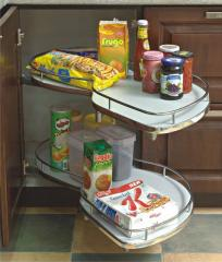 Kitchen Corner Rotating Shelves