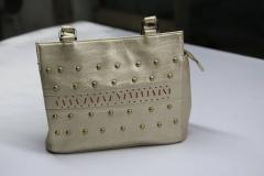 Off White Leather Hand Bag