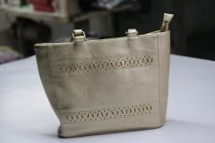 Silver/Off white women hand Bag