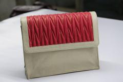 Red embroidered Off-white hand bags