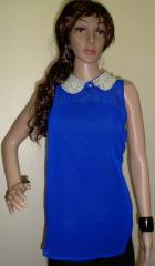 Blue Color Ladies Beaded Tops