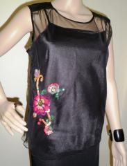 Black Ladies Beaded Top