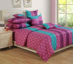 Purple Colour Bed Sheet with Pillow Covers