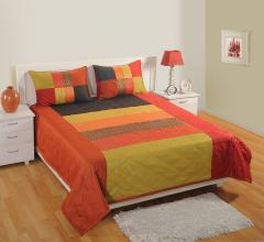 Multi Colour Brocade Bedcover Set of 5