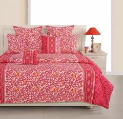 Pink Colour Bed Sheet in a Bag Set of 4