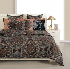 Black and Brown Color Bed in a Bag Set of 4