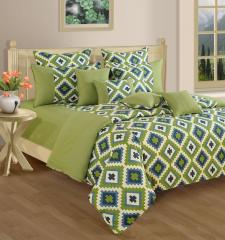 Green and Purple Colour Bed in a Bag Set of 4