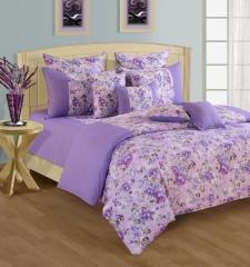 Purple and Blue Colour Bed in a Bag Set of 4