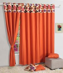 Margenta Color Solid Plain Eyelet Curtain for Door