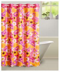 Multicolour Colour Shower Shower Eyelet Curtain for Shower