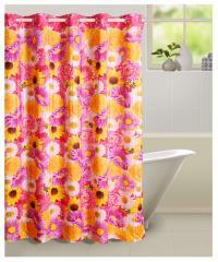 Multicolour Colour Shower Shower Eyelet Curtain for Shower