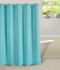 Blue Colour Paisley Shower Eyelet Curtain for Shower