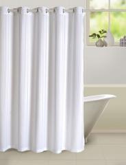 White Colour Solid Shower Shower Eyelet Curtain for Shower