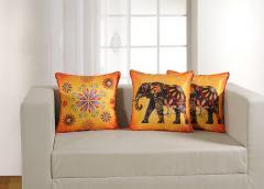 Elephant Theme Deco Cushion Cover Set of 2