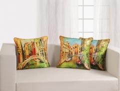 Venice Theme Deco Cushion Cover Set of 2