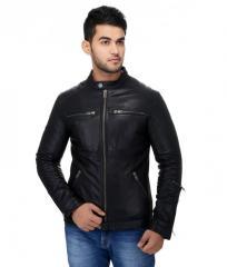Mens Zip Leather Jacket