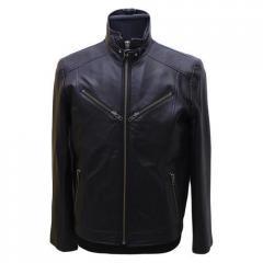 Long Zip Leather Jacket