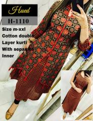 Cotton Double Layer Multi-color Kurti