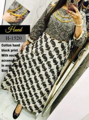Neck Metal coin Design Printed Kurti