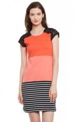 Multicolor Dress With Cap Sleeve