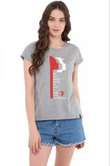 Grey Graphic Print Tee Shirt