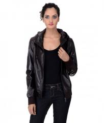 PU Leather Hood Blouson