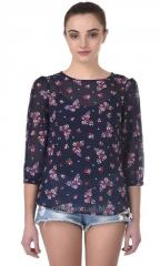 Multi Floral Butterfly Top