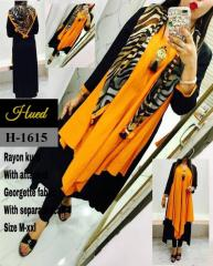 Rayon Kurti with Separate Scarf