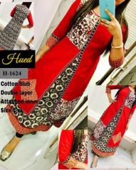Red Cotton Double Layer with inner kurti