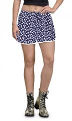 Lilly Flower Print Cotton Shorts