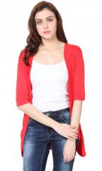 Red Pocket Long Shrug