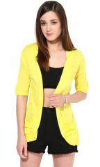 Yellow Pocket Long Shrug
