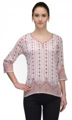 The Gudlook Bohemian Print Rayon Top