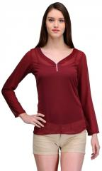 Wine/ Yellow Georgette Top