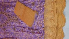 Karanchi Purple-Brown Soft Cotton unstitch Suit