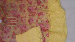 Karanchi Yellow color Chiffon unstitch Suit