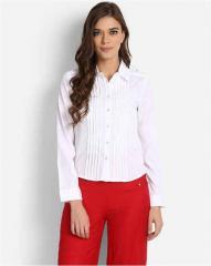 White plain long sleeves shirt