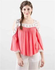 Off shoulder Pink top