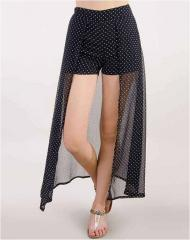 White Dotted black Short