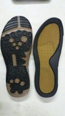 Black-Yellow Shoe Sole