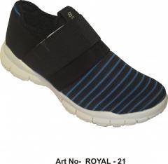 Tiras azules sin cordones zapatos del deporte