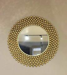 Decorative Mosaic Mirror Frame Gold Plating