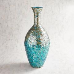 Decoretive Mosaic vases tarque blue