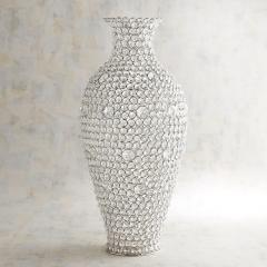 Decoretive Flower vase cristal silver