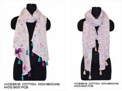 Multicolor  Women Cotton Scarf