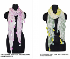 Dotted Print women Cotton Scarf
